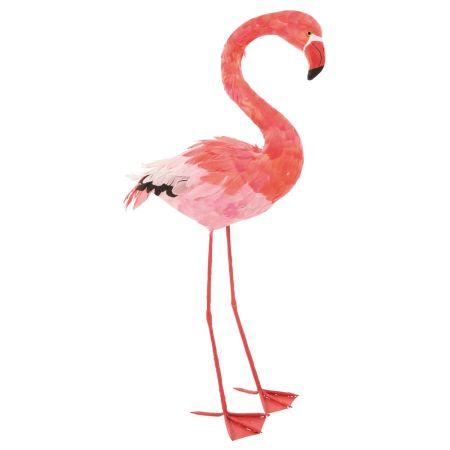 Διακοσμητικό Φλαμίνγκο Ροζ όρθιο 96x52cm