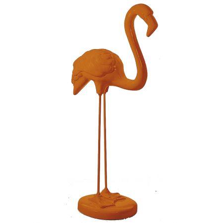 XL Διακοσμητικό Φλαμίνγκο όρθιο Πορτοκαλί 118x50cm