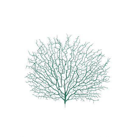 Διακοσμητική δέσμη με κοράλλια Πράσινα 45x40cm
