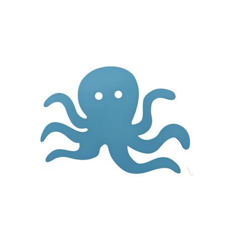 Διακοσμητικό κρεμαστό χταπόδι Μπλε 30cm