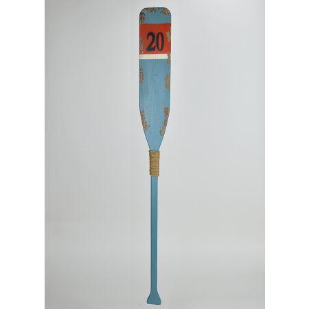 Διακοσμητικό ξύλινο κουπί Γαλάζιο 122cm
