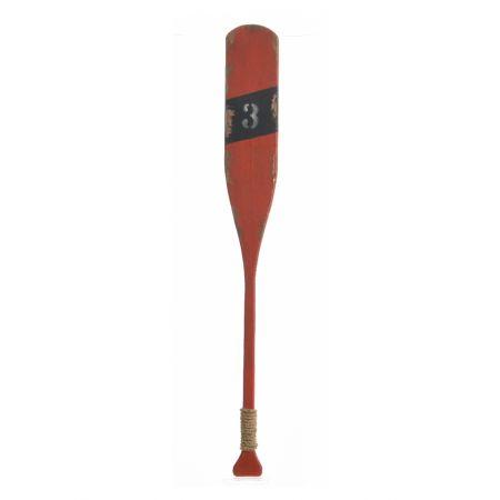 Διακοσμητικό ξύλινο κουπί Κόκκινο