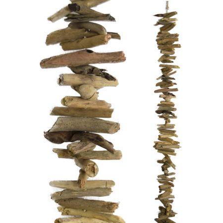 Διακοσμητική γιρλάντα με ξυλάκια - θαλασσόξυλα 80cm