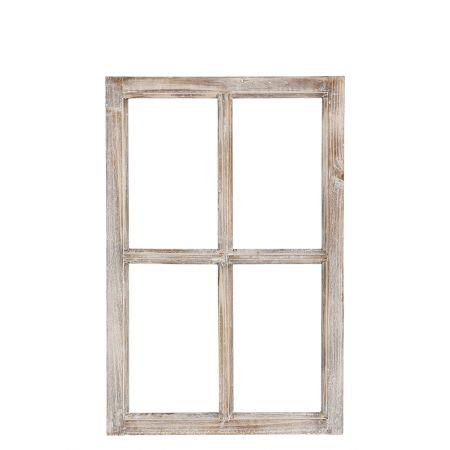 Διακοσμητικό Παράθυρο Ξύλινο Φυσικό καφέ 40x60cm