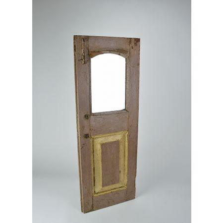 Διακοσμητικό παντζούρι ξύλινο με καθρέπτη Καφέ παλαιωμένο 91.5x33cm