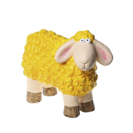 Πασχαλινό κεραμικό Προβατάκι Κίτρινο 24x31cm