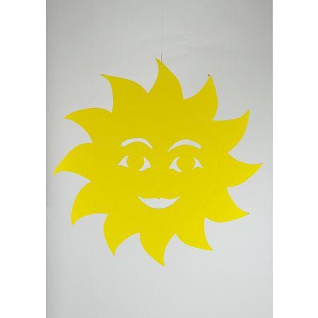 Κρεμαστός χάρτινος ήλιος Κίτρινος 68cm