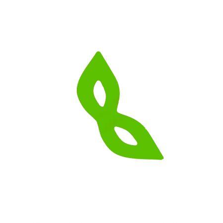 Κρεμαστή χάρτινη Μάσκα Πράσινη 68x25cm