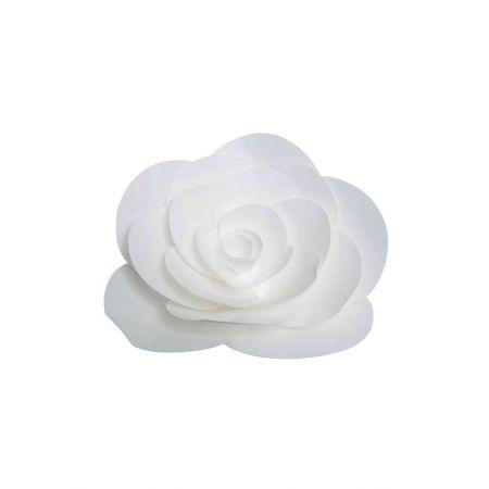 XL Άνθος τριαντάφυλλου χάρτινο Λευκό 30cm