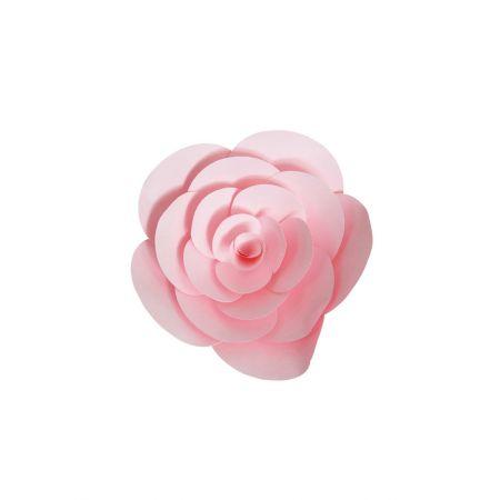 XL Άνθος τριαντάφυλλου χάρτινο Ροζ 20cm