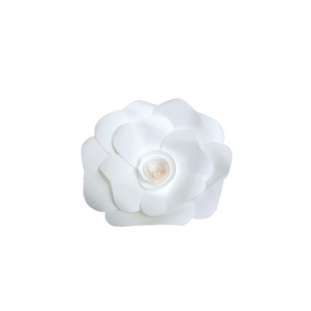 XL Άνθος τριαντάφυλλου χάρτινο Λευκό 20cm