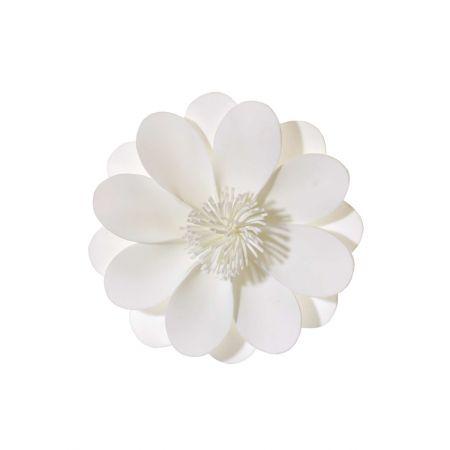 Διακοσμητικό άνθος ανεμώνης λευκό , 30cm