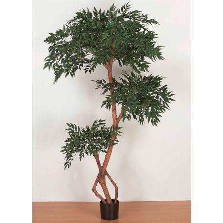Τεχνητό φυτό Φίκος Μπέντζαμιν τριπλός σε γλάστρα 170cm