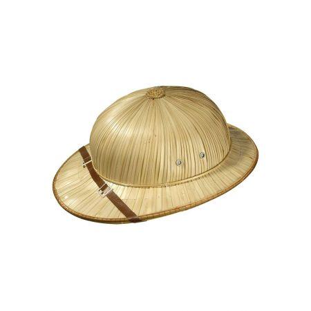 Ψάθινο καπέλο εξερευνητή - safari Φυσικό, 36x32cm