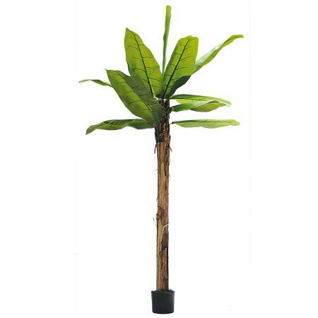 Διακοσμητικό τεχνητό δέντρο μπανανιά σε γλάστρα 180cm