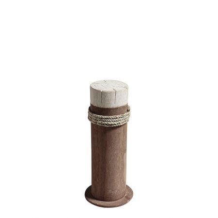 Διακοσμητικό κολωνάκι - δέστρα λιμανιού Καφέ 50cm