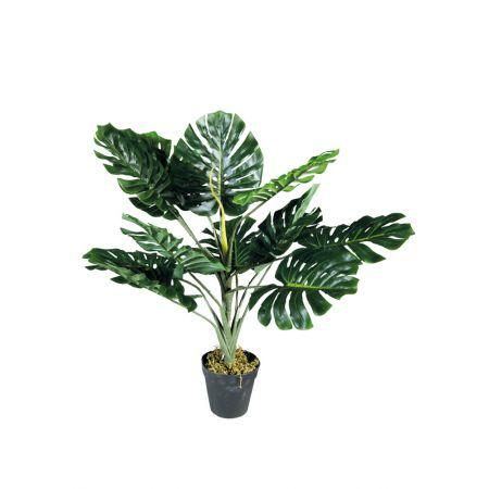 Τεχνητό εξωτικό φυτό Μονστέρα σε γλάστρα 75cm