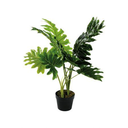 Τεχνητό εξωτικό φυτό Μονστέρα σε γλάστρα 80cm
