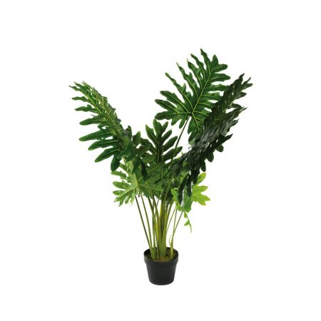 Τεχνητό εξωτικό φυτό Μονστέρα σε γλάστρα 110cm