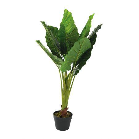 Τεχνητό εξωτικό φυτό Φυλλόδεντρο σε γλάστρα 110cm