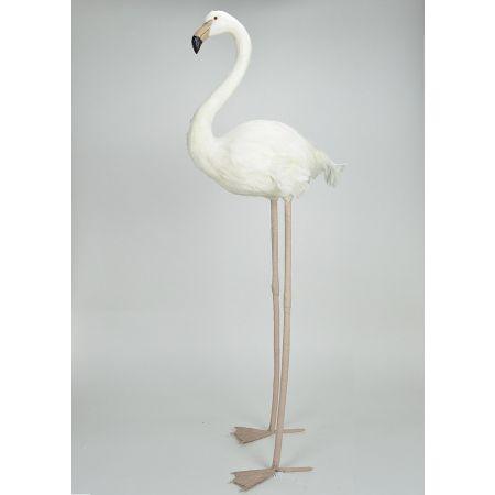 Διακοσμητικό Φλαμίνγκο Λευκό 120cm
