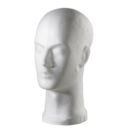 Διακοσμητικό Κεφάλι Ανδρικό Λευκό 32cm