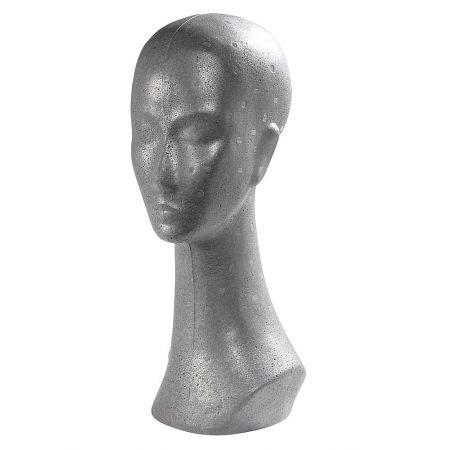 Διακοσμητικό Κεφάλι Γυναικείο Ασημί 42cm