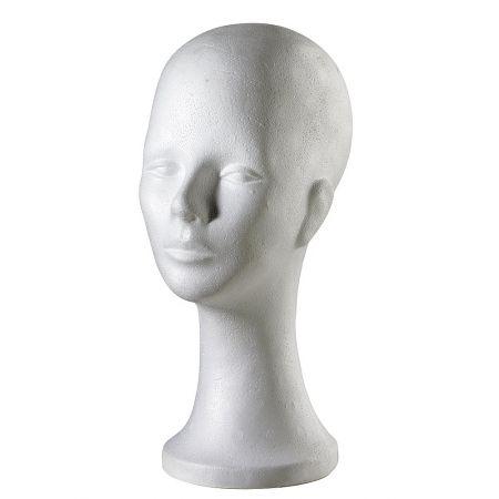 Διακοσμητικό Κεφάλι Γυναικείο Λευκό 35cm