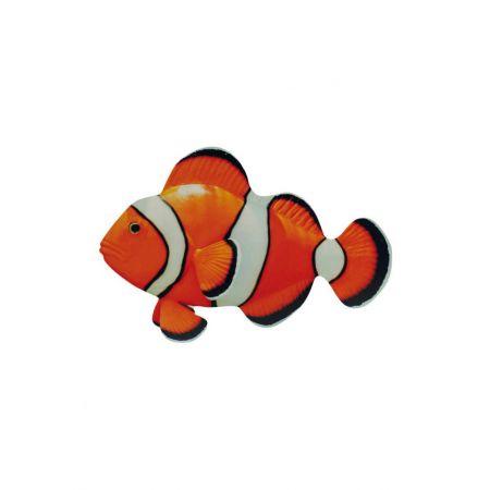 Διακοσμητικό ξύλινο τροπικό ψάρι -clownfish- 50x30cm