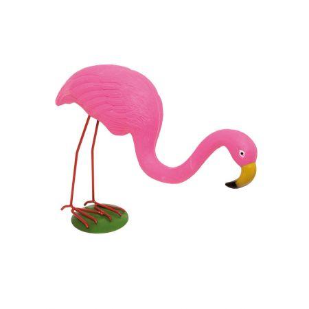 Διακοσμητικό Φλαμίνγκο Ροζ με σκυμμένο λαιμό 40x33cm