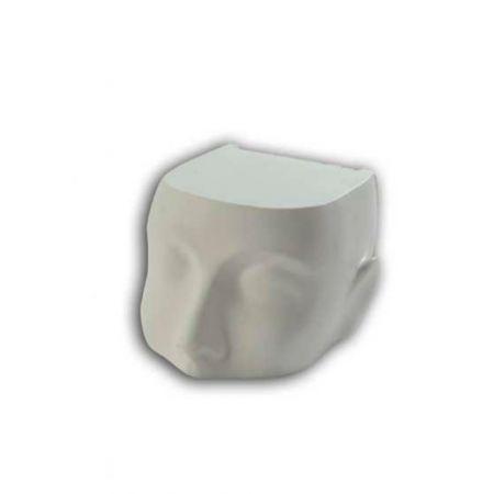 Διακοσμητικό Κεφάλι Μισό Λευκό 19cm