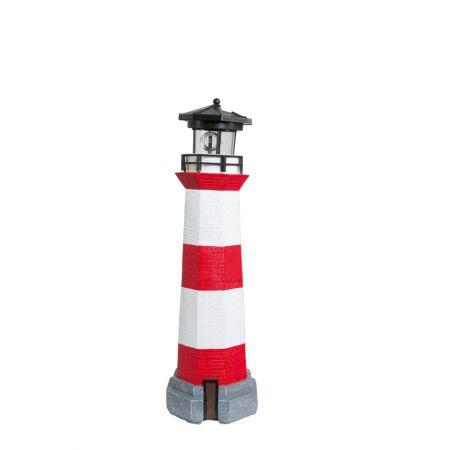 Διακοσμητικός φάρος με φωτισμό LED Κόκκινο - Λευκό 42cm