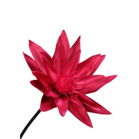 XL Διακοσμητικό λουλούδι Νούφαρο Φούξια 127x50cm
