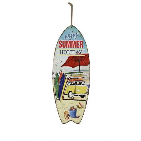 Διακοσμητική σανίδα του Surf ξύλινη 78x30cm
