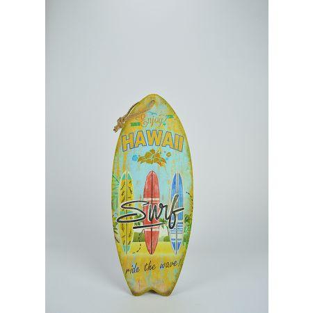 Διακοσμητική σανίδα του Surf ξύλινη Hawaii 50x20cm