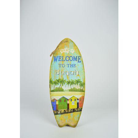 Διακοσμητική σανίδα του Surf Welcome to the Beach 50x20cm