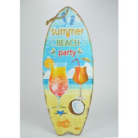 Διακοσμητική σανίδα του Surf Summer Beach Party 78x30cm