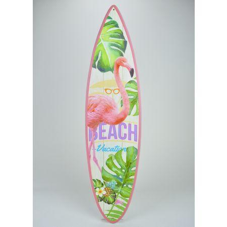Διακοσμητική σανίδα του Surf ξύλινη με Φλαμίνγκο 78x20cm
