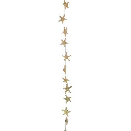 Γιρλάντα με 12 φυσικούς αστερίες 10-15x180cm