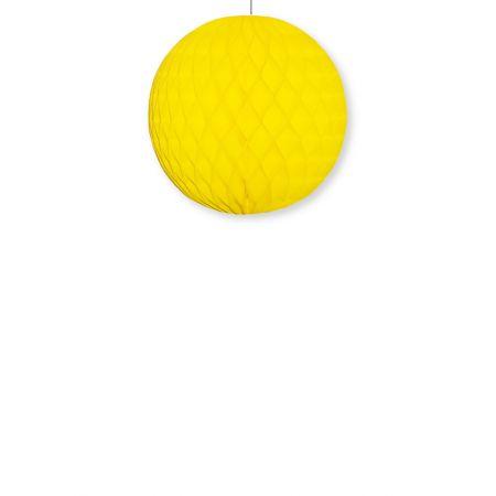 Διακοσμητική χάρτινη μπάλα κυψελωτή Κίτρινη 30cm