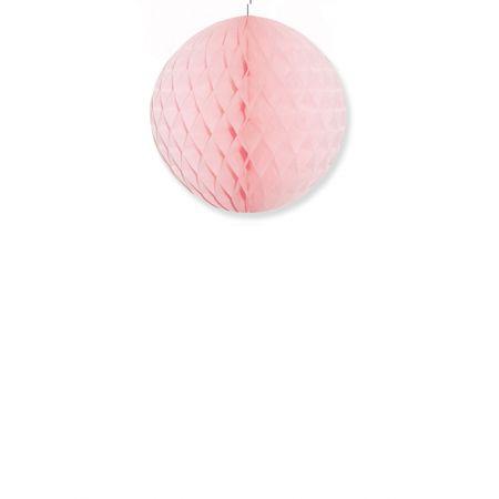 Διακοσμητική χάρτινη μπάλα κυψελωτή Ροζ 30cm