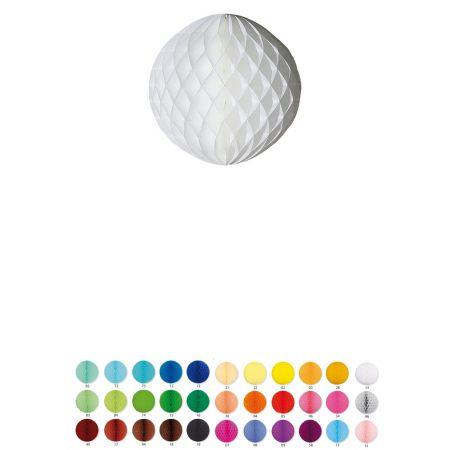 Χάρτινη μπάλα κυψελωτή σε πολλά χρώματα και μεγέθη