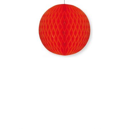 Διακοσμητική χάρτινη μπάλα κυψελωτή Κόκκινη 30cm