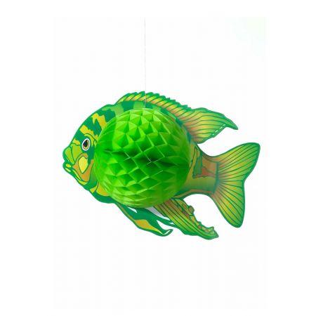 Διακοσμητικό κρεμαστό Τροπικό Ψάρι Πράσινο 38x28cm