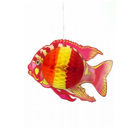 Διακοσμητικό κρεμαστό Τροπικό Ψάρι Κόκκινο 38x28cm