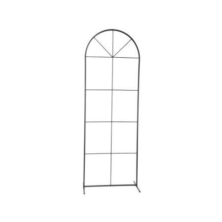 Διακοσμητικό μεταλλικό παράθυρο Μαύρο 172x60x40cm