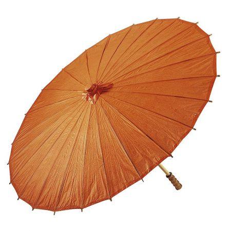 Διακοσμητική ομπρέλα χάρτινη Πορτοκαλί 86x55cm
