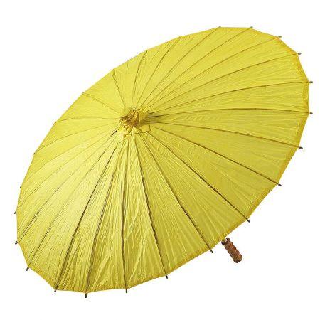 Διακοσμητική ομπρέλα χάρτινη Κίτρινη 86x55cm
