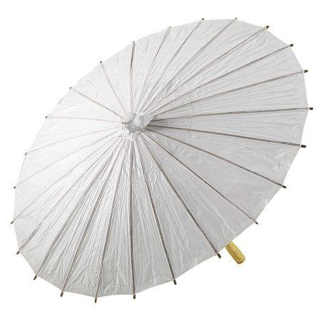 Διακοσμητική ομπρέλα χάρτινη Λευκή 86cm