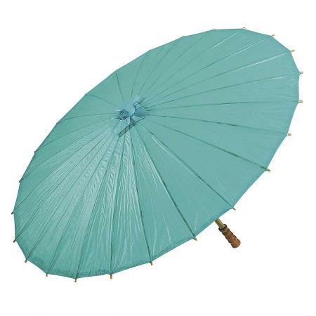Διακοσμητική ομπρέλα χάρτινη Τυρκουάζ 86x55cm